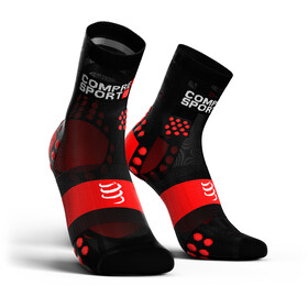 Compressport Pro Racing V3.0 Ultralight Run High Socks black/red